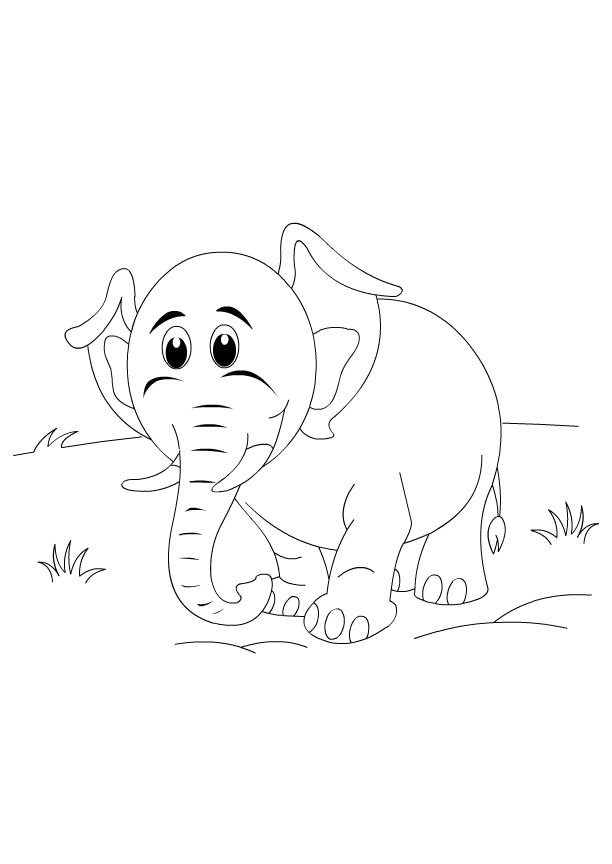 cute elephant coloring pages for kids tips for printing