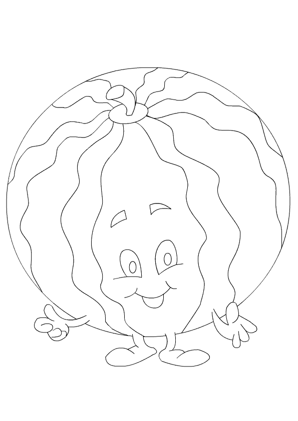 Watermelon Coloring Page Preschool