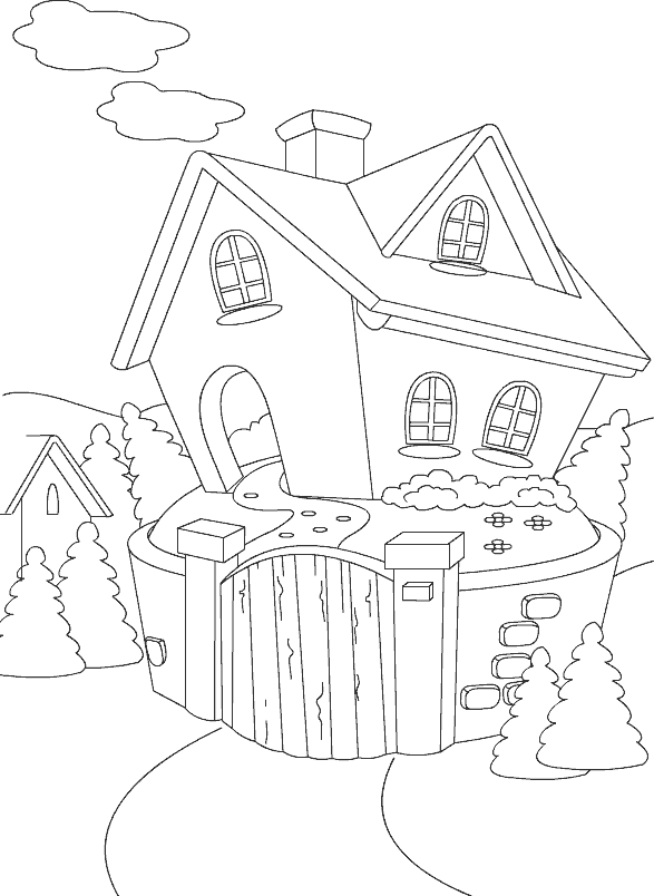 cottage coloring pages - photo#32