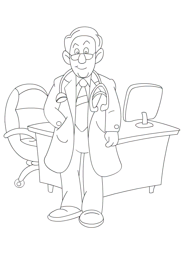 Coloring Pages and Printable Pages of People and Jobs