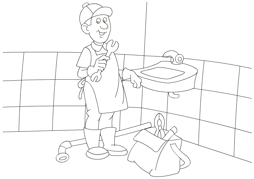 People and Jobs Coloring Pages Labor Day Coloring Pages