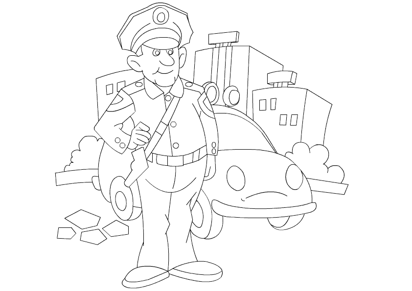 Coloring Pages For Job In The Bible : Various jobs coloring pages for kids