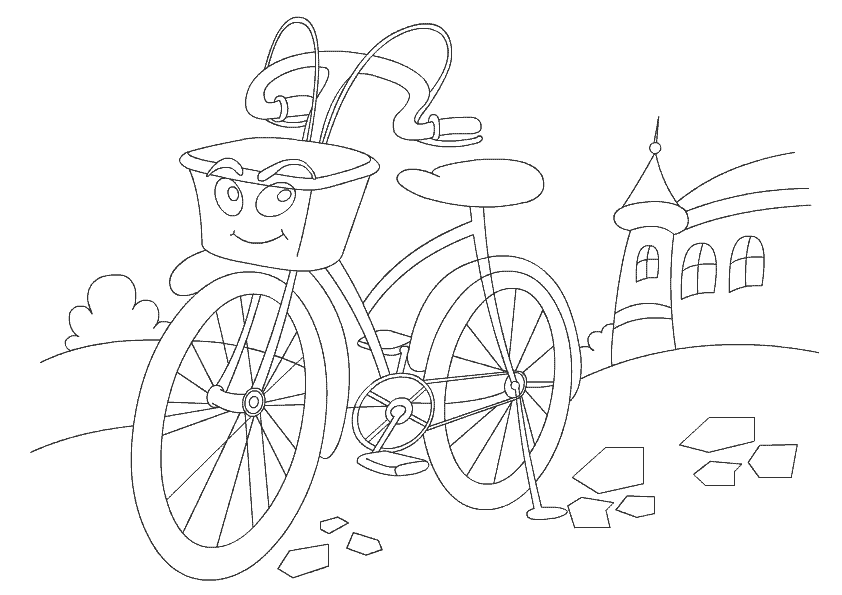 Показаны картинки по запросу Велосипед Раскраска.