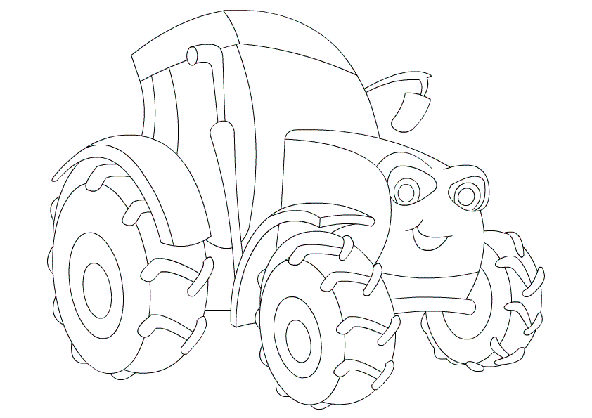 Color A Tractor Free Coloring Pages for Kids