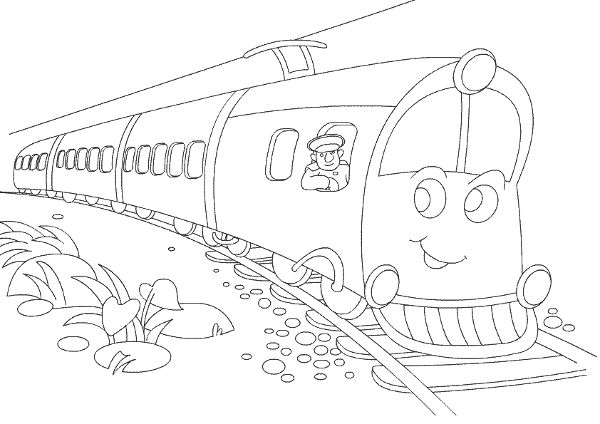 Print and Color Train | Free Coloring Pages for Kids