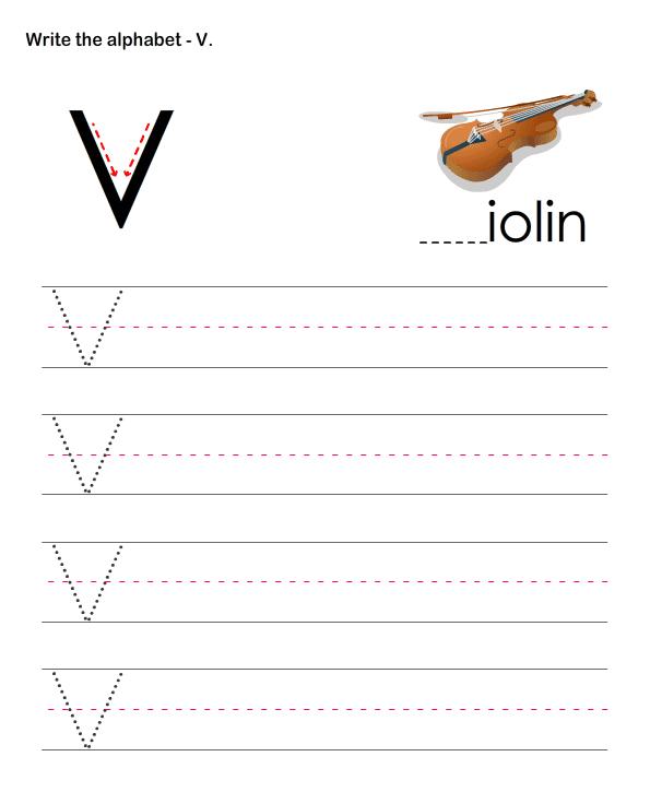 pre k alphabet writing worksheets