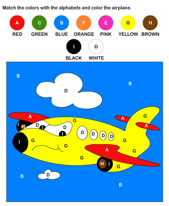 Color by Letter Worksheets for