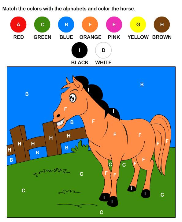 Practice Alphabet Worksheets for Kids – Color by Letter Worksheets for Kindergarten