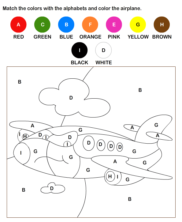 Color by Letter Worksheets for Kids | Free Printable Educational ...