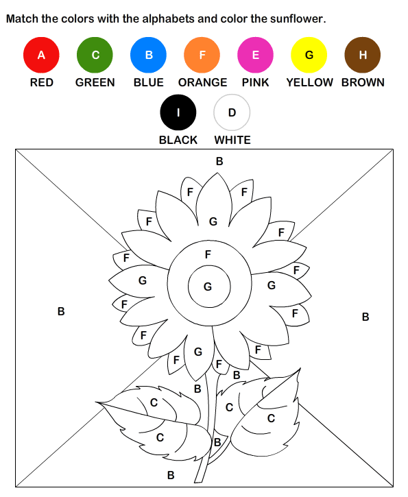 math worksheet : free color by letter worksheets  preschool and kindergarten  : Kindergarten 2 English Worksheets