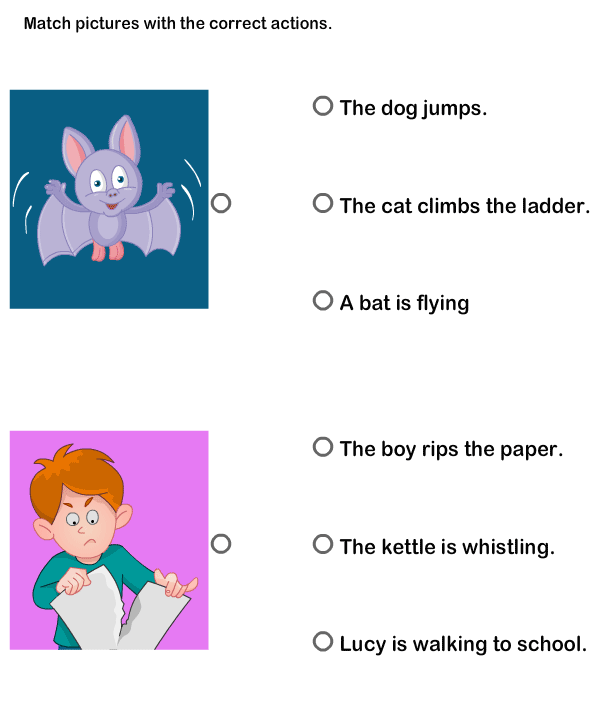 Reading And Word Activities Kids Worksheets
