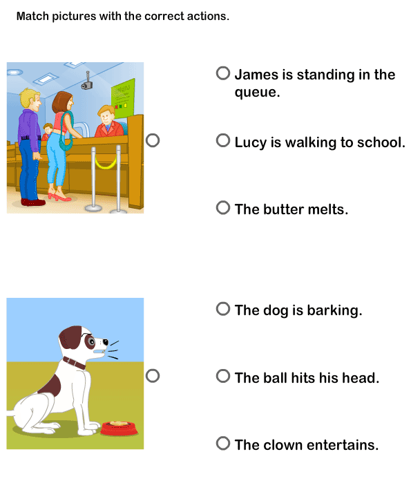 Match Sentences To Pictures Worksheet