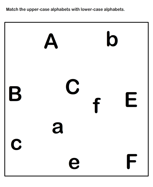 Match Uppercase And Lowercase Letters , Kindergarten Worksheets