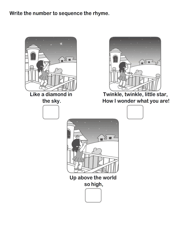 Picture Sequence Worksheet 9