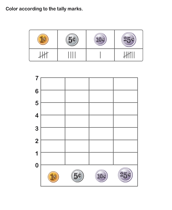 1st Grade Tally Chart Worksheets on tally table worksheet