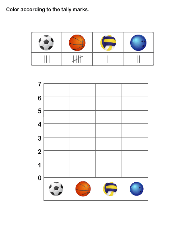 Printable Math Exercise Learn Tally Marks Chart Worksheets. Tally Chart Worksheet 5. Kindergarten. Simple Graphing Worksheets For Kindergarten At Mspartners.co