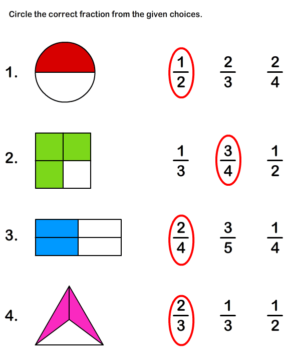 Fraction Worksheets and Printables : Printable Math Worksheets for Kids