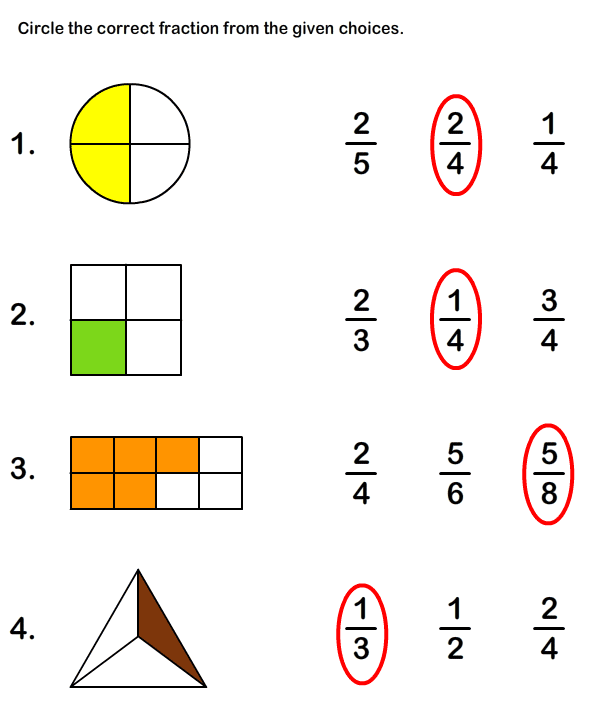 Fraction Math Worksheets | Learn Fraction Worksheets
