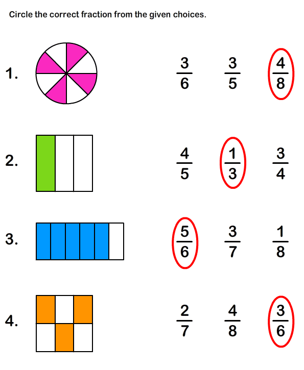 math worksheet : fractions worksheets maths worksheets  online educational  : Simple Fractions Worksheets