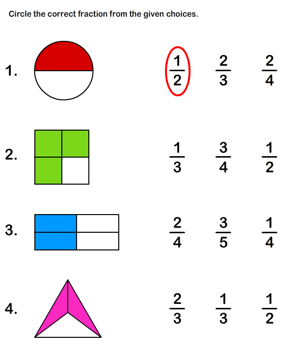 Fraction Worksheets and Printables – Fraction Worksheet Grade 1