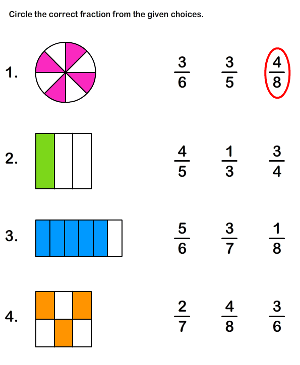 {Fractions Worksheets Maths Worksheets – Fractions Worksheets for Kids