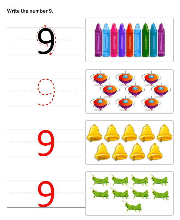 Learn to Write Numbers , Math Worksheets For Kindergarten