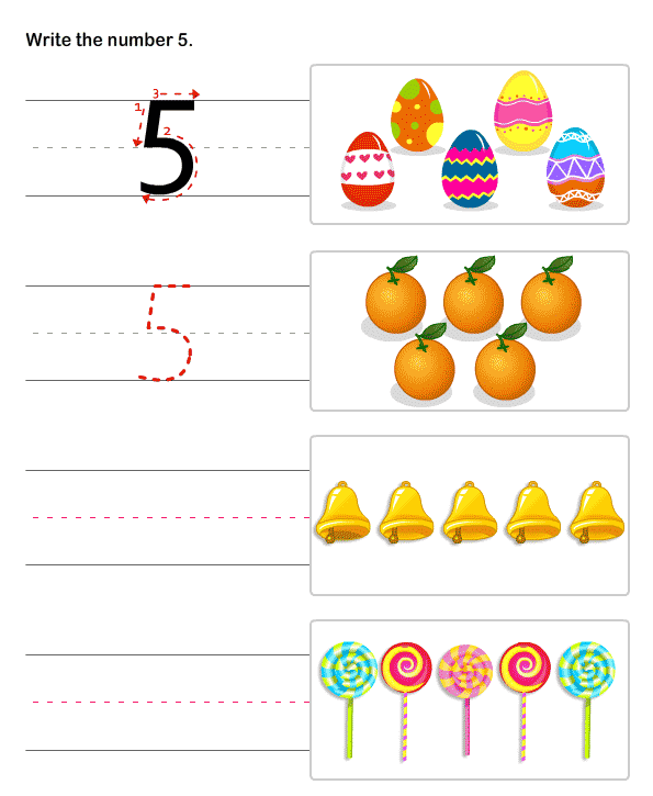 Kindergarten Number Worksheets Number Writing Practice