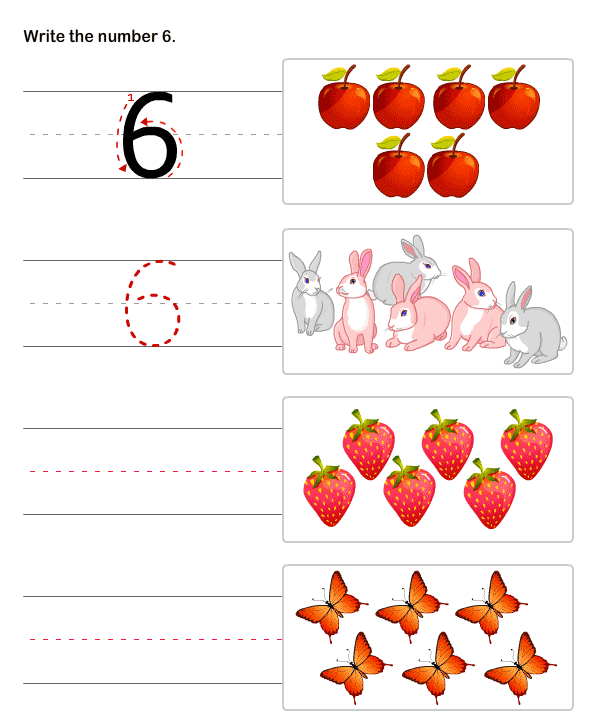 Pre K Math Worksheets : Writing numbers worksheets and printables preschool math