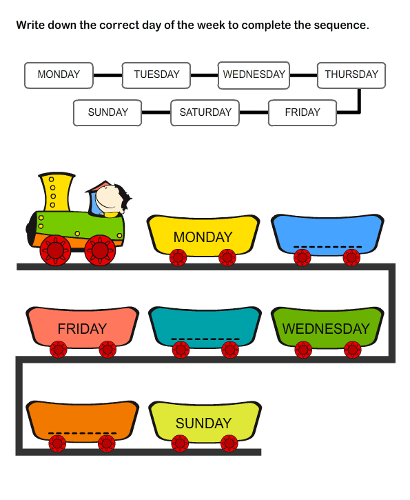 Free Printable Educational Worksheets | Days of the Week Printables