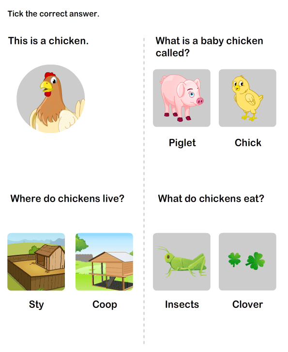 Animals and Their Homes Worksheet | Animals and Their Babies Worksheet