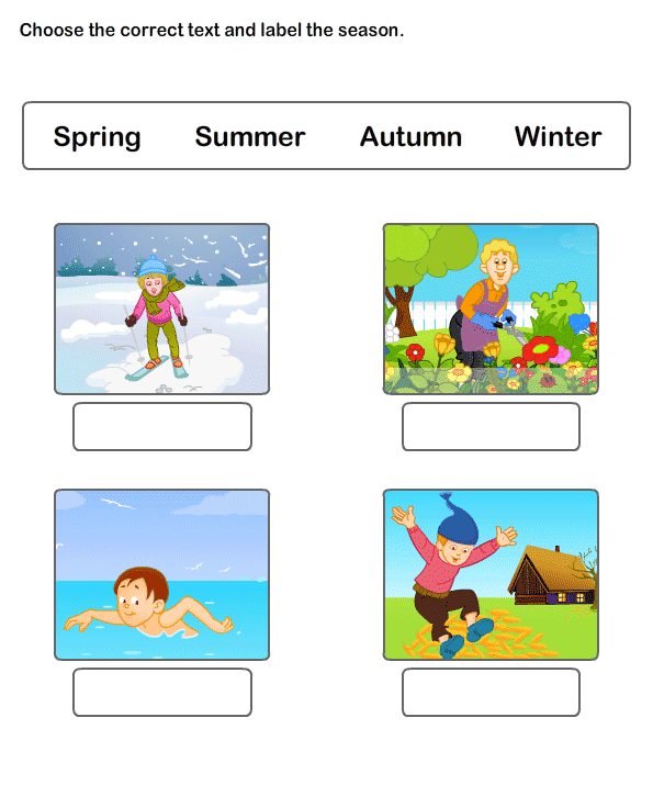 Free Worksheets On Seasons | ESL Worksheets For Kids