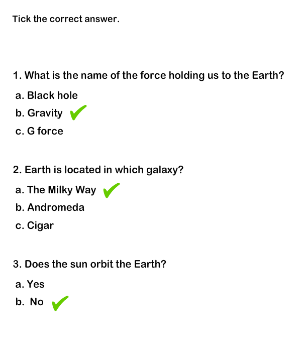 grade solar system questions - photo #3