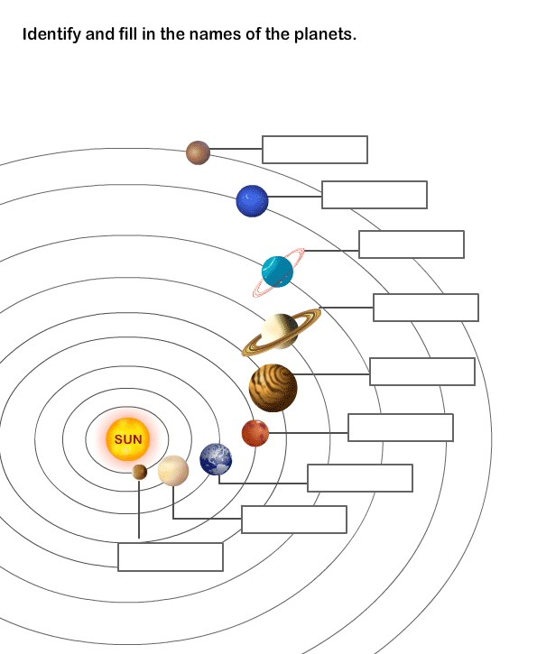 Solar System Worksheet 8