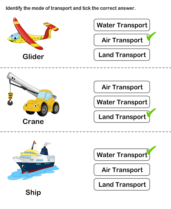 Teaching Transport | Free Printable Transport Worksheets for Kids