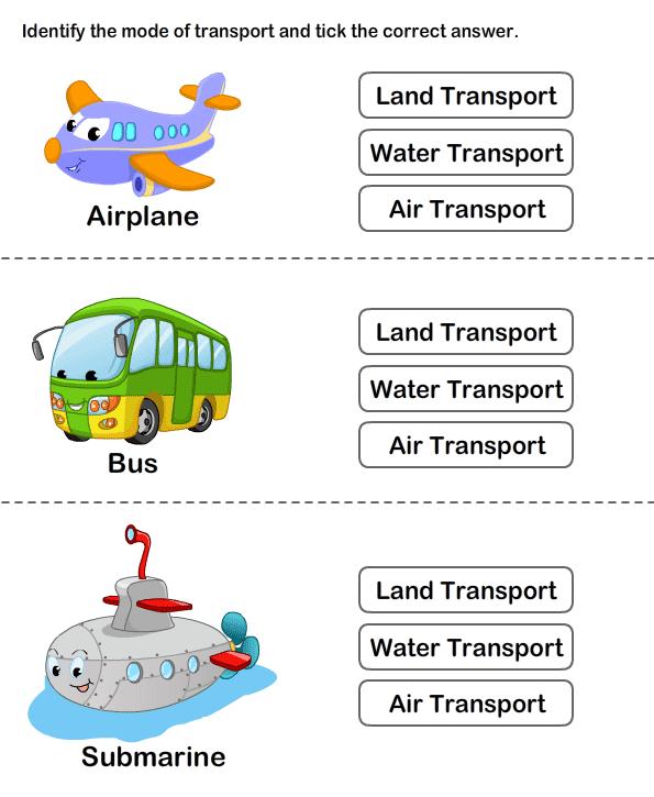 Teach Transportation To Preschoolers Online Worksheets For Kids. Transports Worksheet 6. Kindergarten. Land Transportation Worksheets For Kindergarten At Mspartners.co